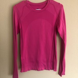 Champion Long Sleeve Thermal- Pink (M)